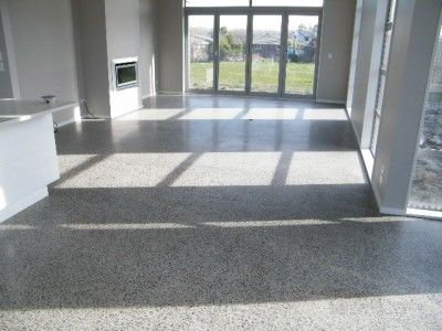 Polished concrete with Underfloor Heating